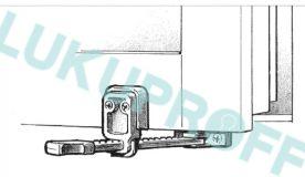 AKNA FIKSAATOR ASSA FIX 85 VALGE (sissepoole avanevale aknale)