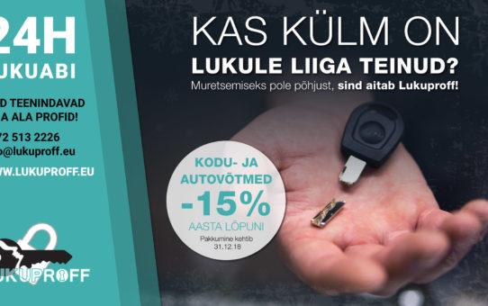 Auto-ja koduvõtmed -15%