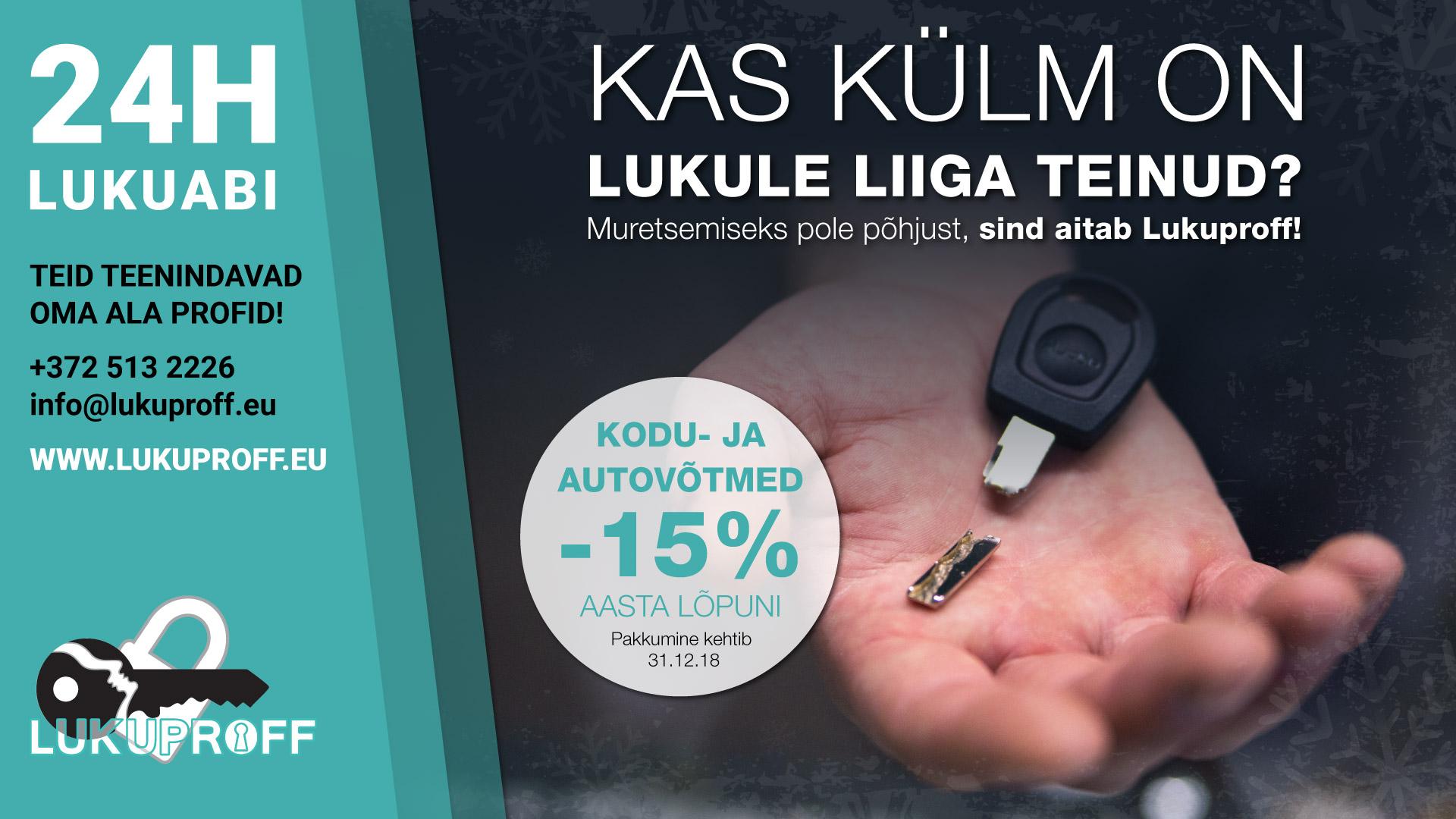 Auto-ja koduvõtmed -15%-Pärnu
