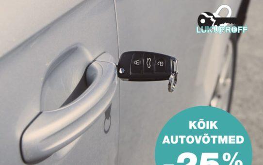 Autovõtmed - hoolitse oma autoukse luku eest