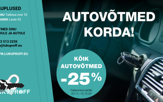 Autovõti korda- kampaania kestab 23.11-12.12